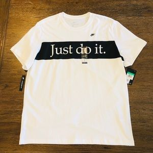 Nike Futura Colorblock Statement T Shirt White